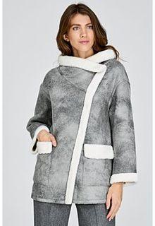 Короткая облегченная шуба из овчины Virtuale Fur Collection