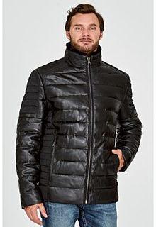 Стеганая кожаная куртка с отделкой мехом бобра Al Franco