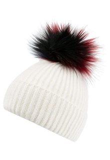 Вязаная шапка с меховым помпоном Marhatter