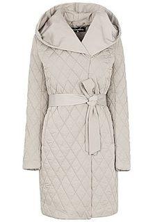 Стеганое пальто с поясом La Reine Blanche
