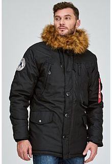 Утепленная куртка с отделкой искусственным мехом Alpha Industries