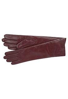 Удлиненные кожаные перчатки Eleganzza