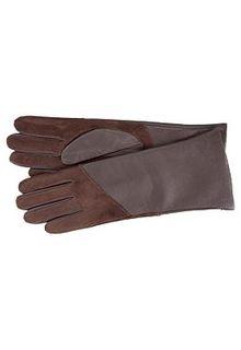 Комбинированные кожаные перчатки Fabretti