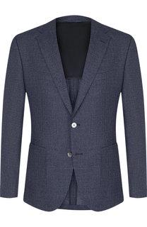 Однобортный пиджак на двух пуговицах BOSS