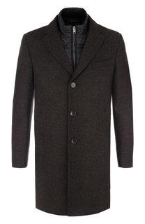Шерстяное пальто с подстежкой BOSS