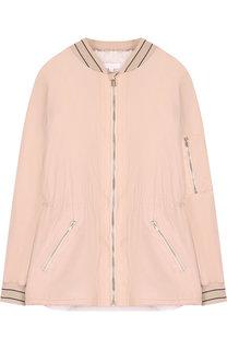 Куртка с воротником-стойкой и поясом на кулиске Chloé