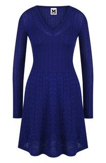 Вязаное мини-платье с V-образным вырезом M Missoni