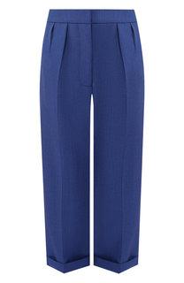 Укороченные шерстяные брюки с отворотами Burberry