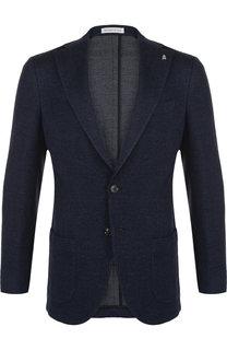 Однобортный пиджак из смеси хлопка и шерсти Sartoria Latorre
