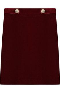 Бархатная юбка с декором Caf