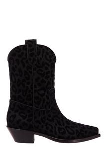 Черные сапоги-казаки Gaucho Dolce & Gabbana