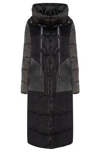 Утепленное пальто камуфляжной расцветки Mila Marsel