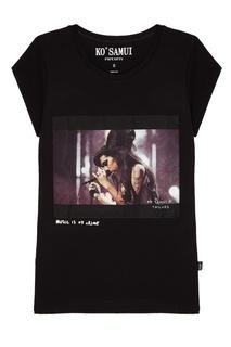 Черная футболка с фотопринтом Jade — Amy Winehouse KO Samui
