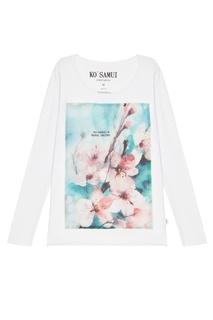 Белый лонгслив Waterblue KO Samui
