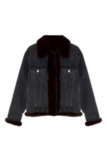 Джинсовая куртка с мехом норки Milangel
