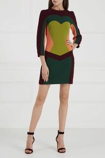 Шерстяное платье color-block Laroom
