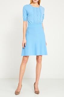 Трикотажное платье с отделкой Elisabetta Franchi