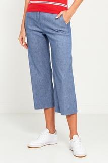 Укороченные брюки с блестящей отделкой Amina Rubinacci