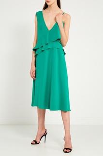 Зеленое платье на бретелях Chapurin