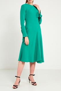 Зеленое платье-миди Chapurin