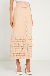 Бежевая юбка с воланами Laroom