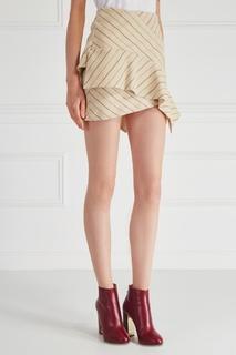 Юбка из льна и шерсти Kimura Isabel Marant