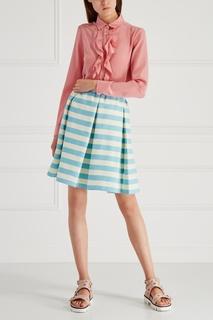 Комбинированная юбка в полоску RED Valentino