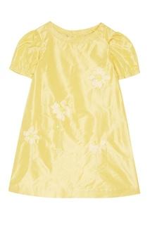 Шелковое платье с аппликацией Bonpoint