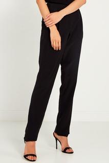 Черные брюки из шелка Lanvin