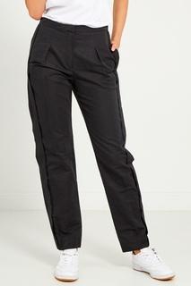 Черные хлопковые брюки Lanvin