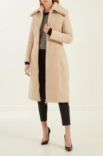 Бежевое пальто на молнии Elisabetta Franchi