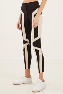 Черные брюки с контрастными вставками Elisabetta Franchi
