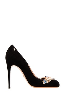 Черные туфли с аппликацией Elisabetta Franchi