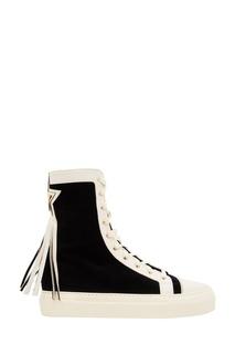 Высокие черно-белые кеды Elisabetta Franchi