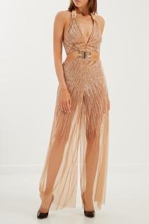 Комбинезон с блестящей вышивкой Elisabetta Franchi