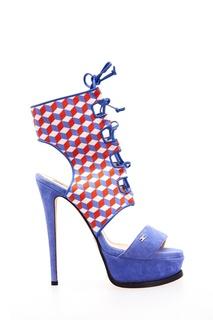 Комбинированные босоножки со шнуровкой Elisabetta Franchi