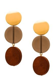 Серьги-подвески с тремя дисками Aloud