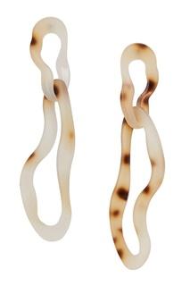 Двойные серьги-кольца Aloud