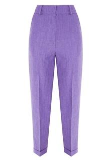 Фиолетовые брюки со стрелками Kuraga