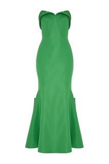 Шелковое платье-бюстье Zac Posen