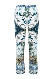 Шелковые брюки с принтом Etro