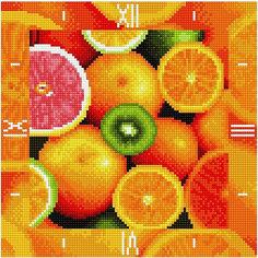 """Алмазная вышивка Color KIT """"Алмазные часы"""" Фруктовый калейдоскоп, 30х30 см"""