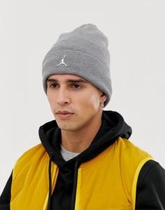 Серая шапка-бини Nike Jordan Jumpman AA1297-091 - Серый