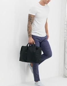 Черная сумка для ноутбука с двумя карманами ASOS DESIGN - Черный