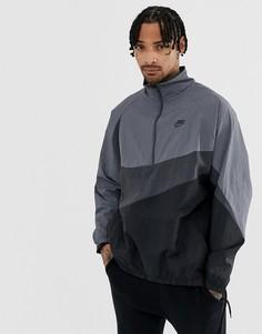 Серая куртка с молнией и галочкой Nike Vaporwave - Серый