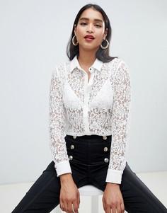 Кружевная блузка цвета слоновой кости Morgan - Белый