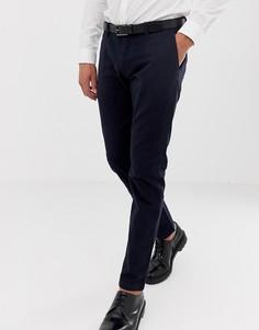 Темно-синие строгие брюки узкого кроя Esprit - Темно-синий