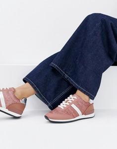 Кроссовки с блестками HUGO - Розовый