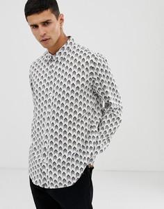 Рубашка с длинными рукавами и принтом Another Influence - Кремовый