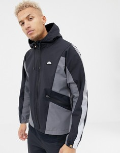 Черная спортивная куртка со светоотражающей полосой на рукавах ellesse Mannio - Черный
